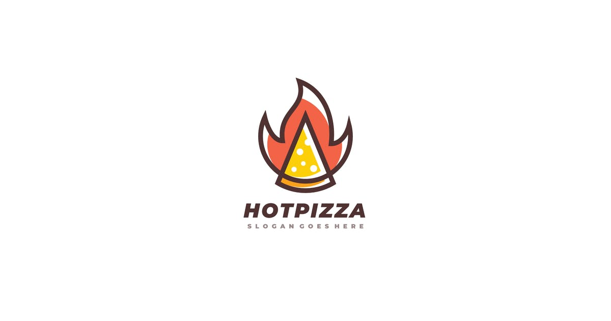 Download Hot Pizza Logo by 3ab2ou