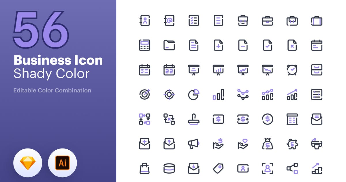 Download Business Icon - Line Color by sudutlancip