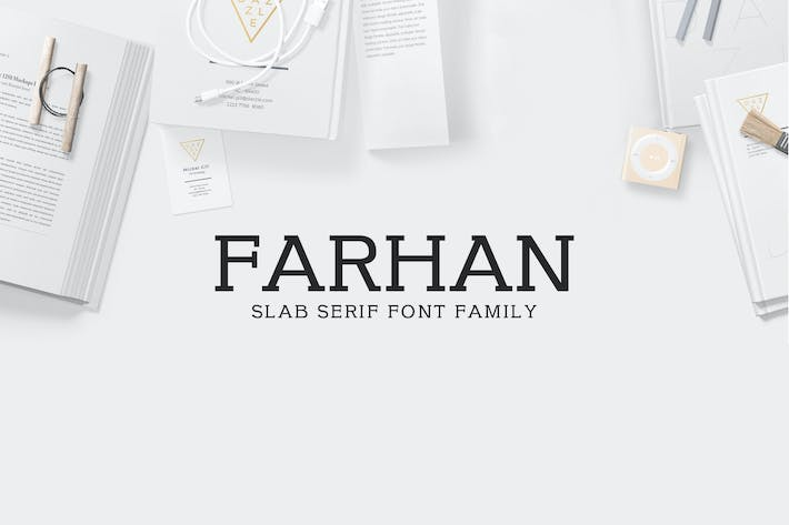Thumbnail for Farhan Slab Serif 5 Font Pack