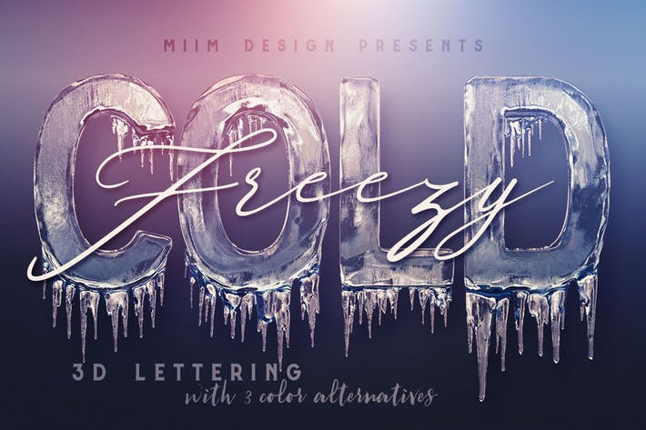 Ice Cold – 3D Lettering