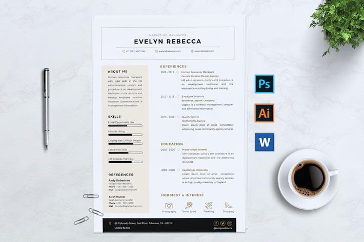 Thumbnail for Minimalist CV Resume Vol. 02
