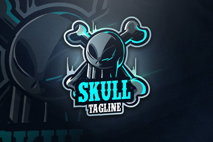 Thumbnail for SKULL TEAM - Mascot & Esport Logo