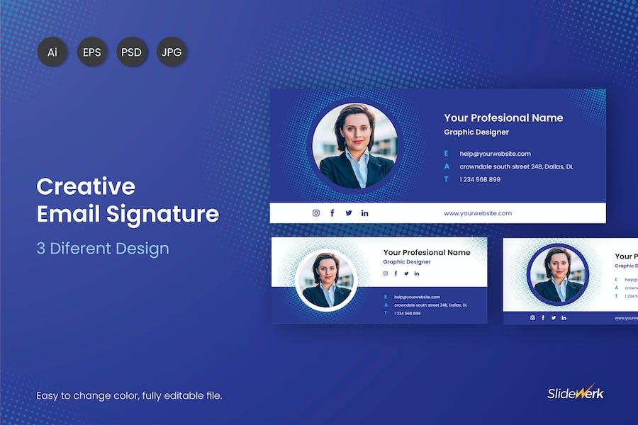 Creative Email Signature V01 - Slidewerk