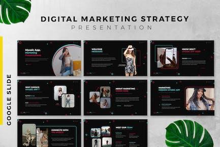 Digital Marketing Strategy Google Slide