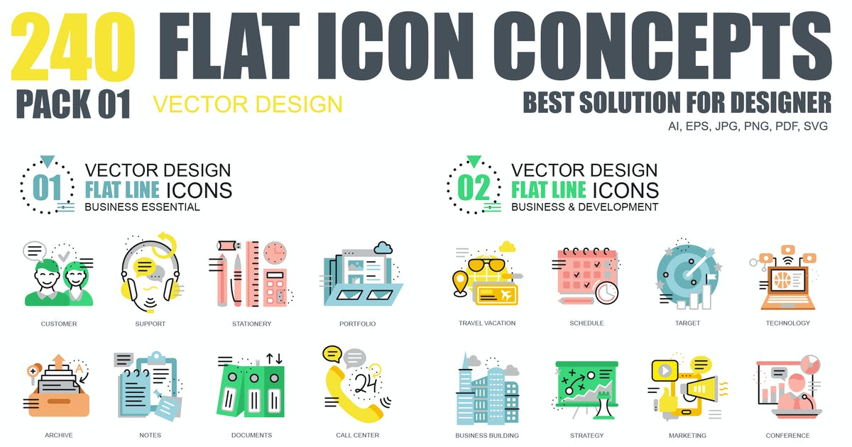 Download Flat Icons by Unknow