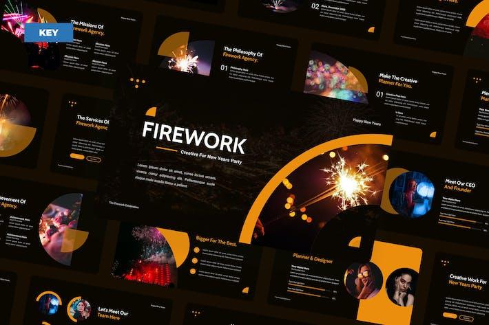 Фейерверк Новогодняя вечеринка - Keynote