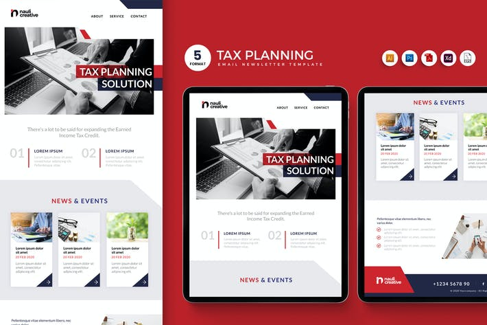 Thumbnail for Tax Planning Solution Email Enewsletter Template