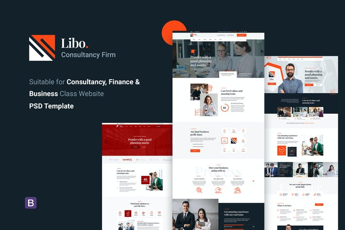 Libo - PSD-Vorlage für Beratungsunternehmen