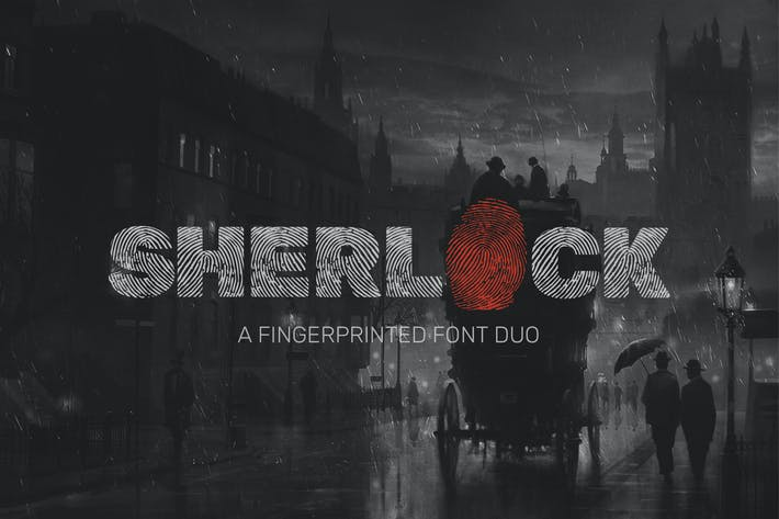 Thumbnail for Sherlock Font Duo
