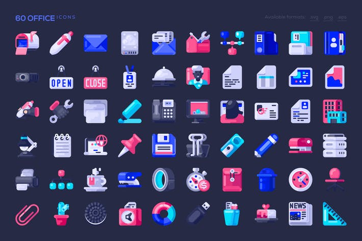 Thumbnail for 60 Office Icons