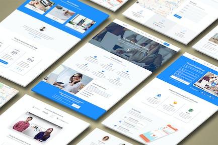 Square - Premium High Converting SaaS Landing Page
