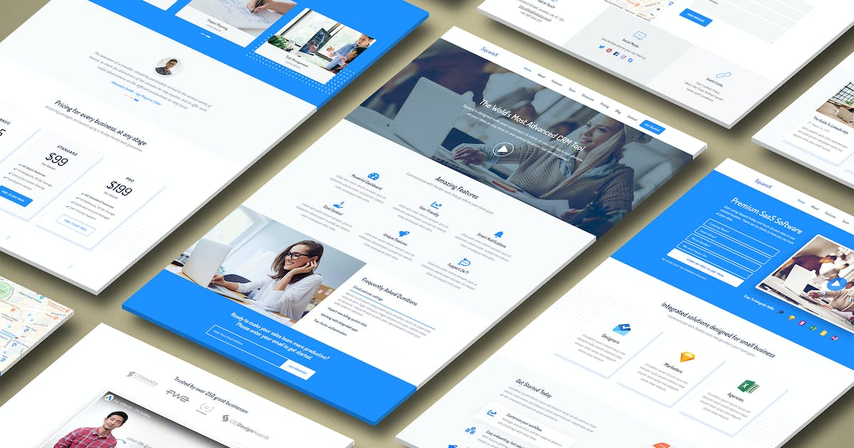 Download Square - Premium High Converting SaaS Landing Page by Epic-Themes