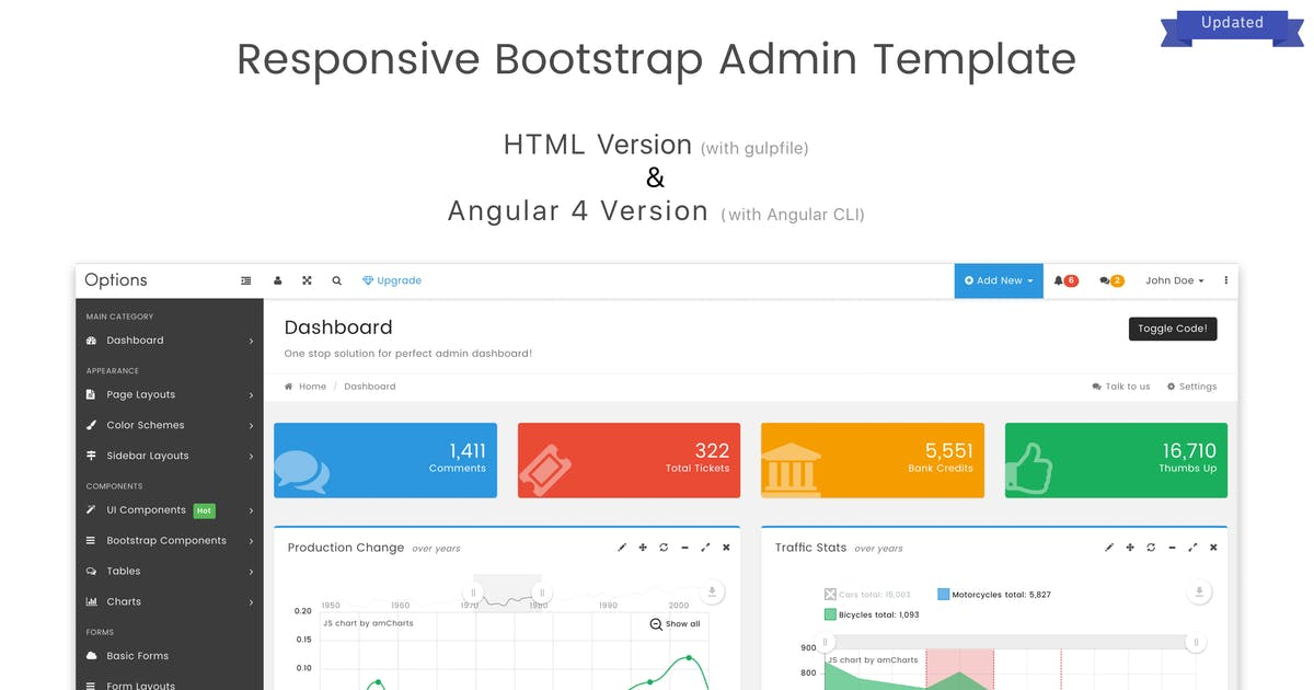 Download Options Admin Dashboard Template by salttechno