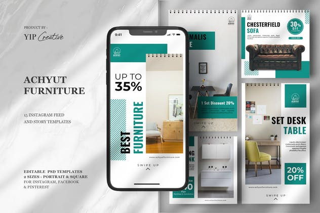 Interior Designer - Furniture Instagram Feed Story