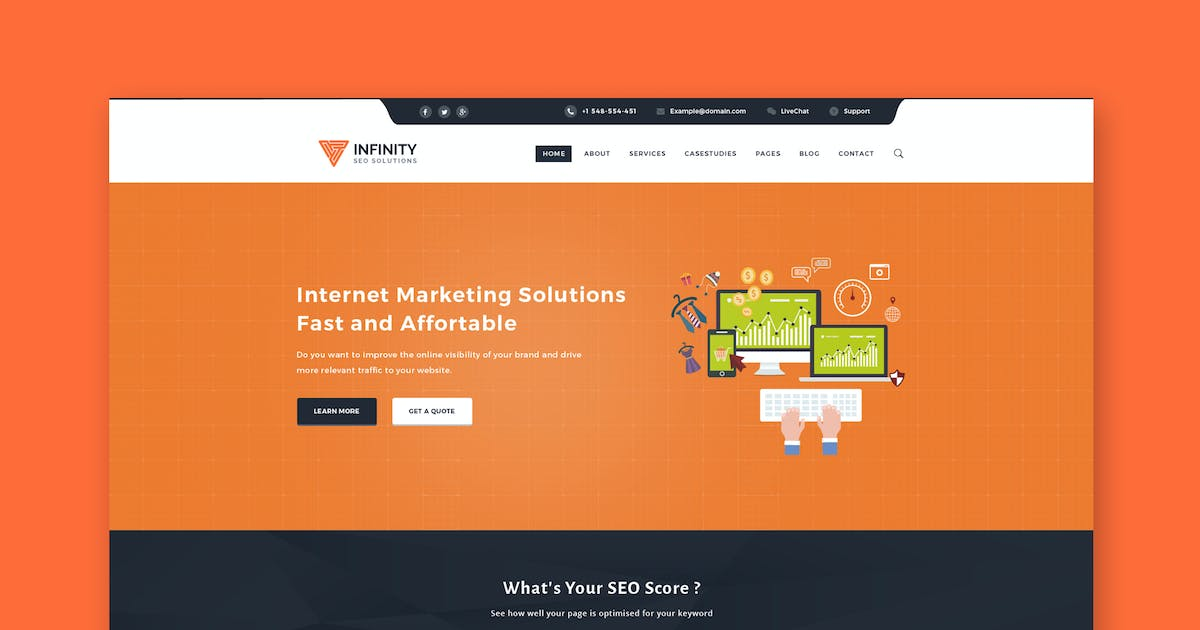 Download Infinity - High Performance HTML SEO Template by PremiumLayers