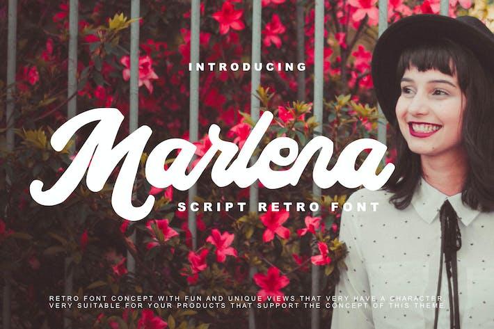 Thumbnail for Marlena - Script Retro Font