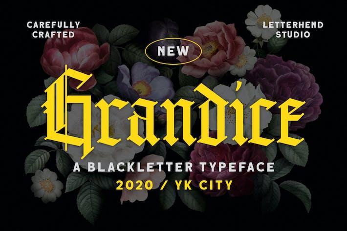 Thumbnail for Grandice - police de caractères de lettre noire