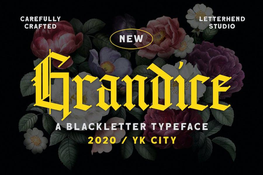 Grandice - Tipo de letra negra