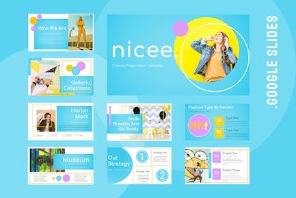 Nicee - Colorful Google Slides Presentation
