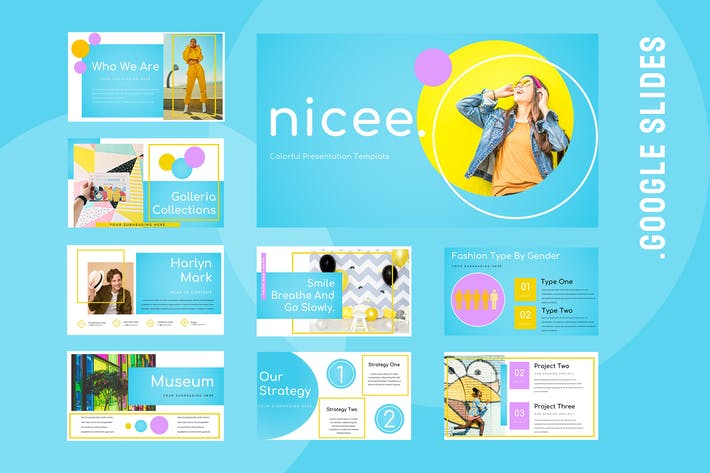 Nicee - Colorful Google Slides Presentation