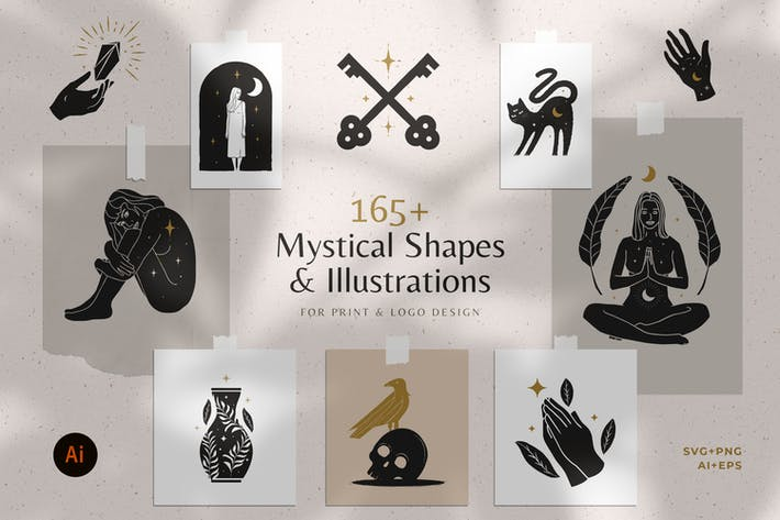 Thumbnail for 165+ Mystical Illustration Bundle