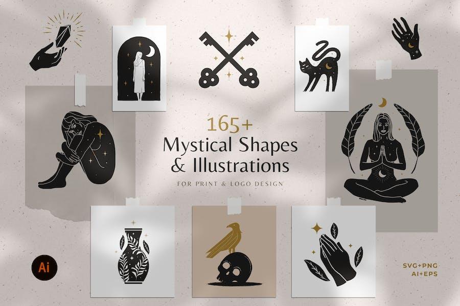 165+ Mystical Illustration Bundle