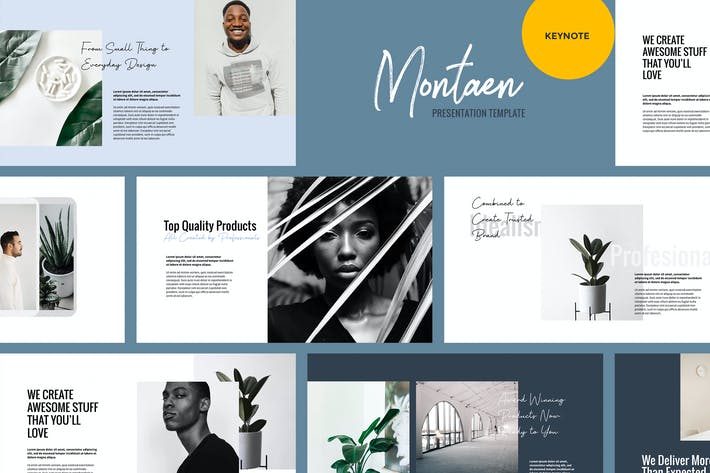 Thumbnail for Montaen - Simple & Minimal Keynote Template