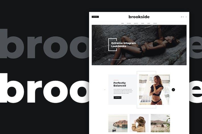 Thumbnail for Brookside - Blog PSD Template