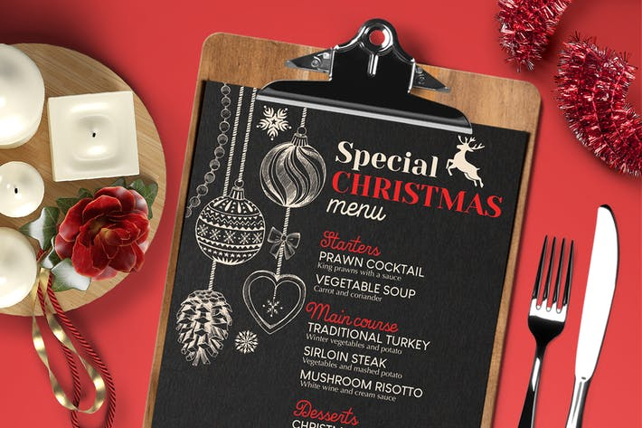 Cover Image For Christmas Restaurant Menu