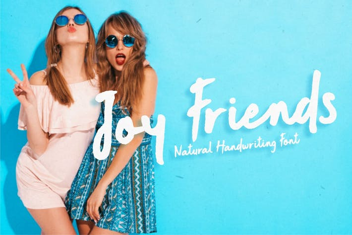 Thumbnail for Joy Friends - Fuente de marcador en negrita