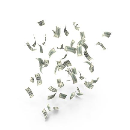 Falling US 100 Dollar Bills