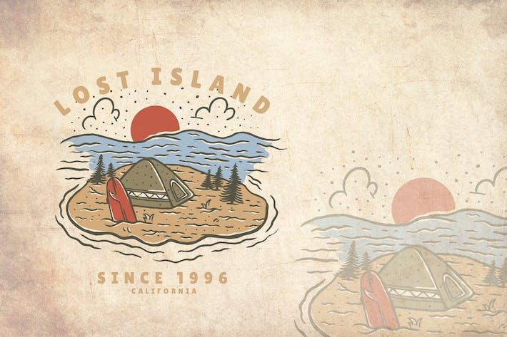 Thumbnail for Lost Island Summer Vintage Illustration