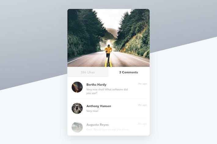 Thumbnail for Image Post Card Widget - Instagram Like