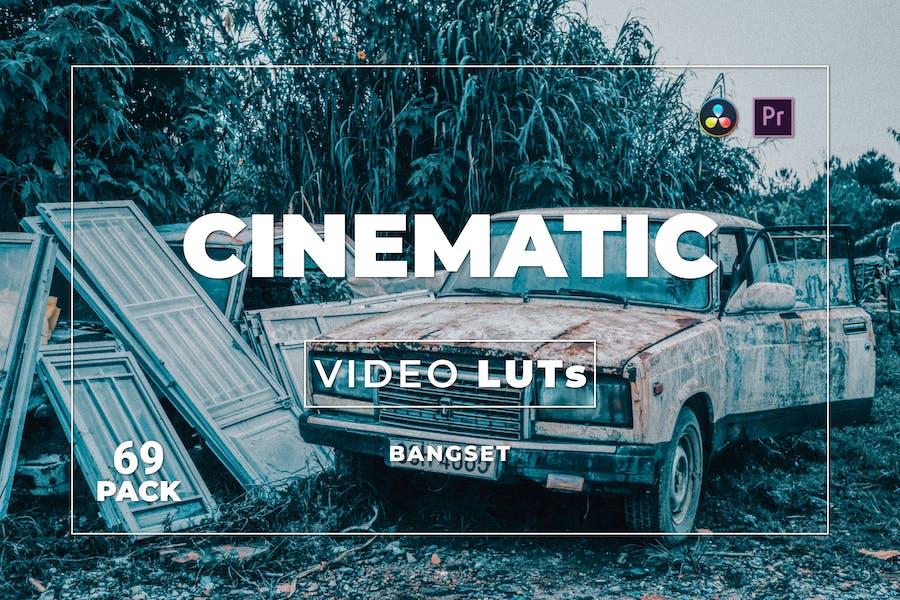 Набор бангсет Кинематографическая пакет 69 видео LUTs