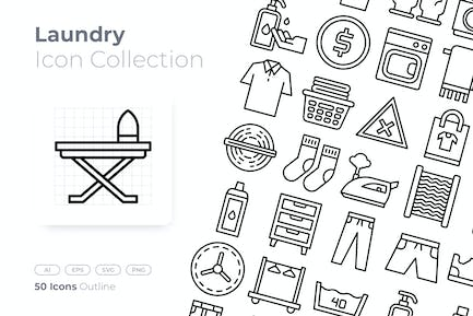 Laundry Outline Icon