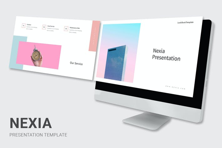 Thumbnail for Nexia - Pastel Color Keynote