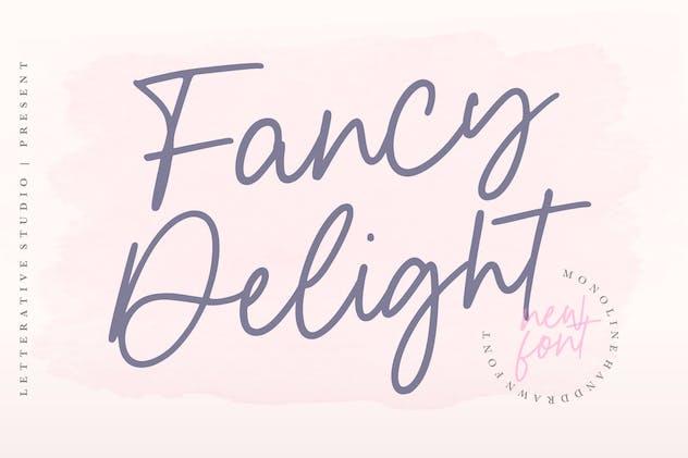 Fancy Delight Signature Font YH