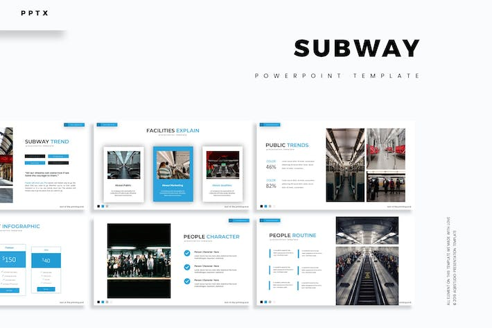 Thumbnail for Subway - Powerpoint Template