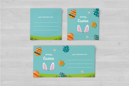 Happy Easter Square Flyer and Invite