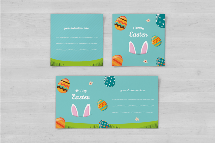 Thumbnail for Happy Easter Square Flyer und Einladung