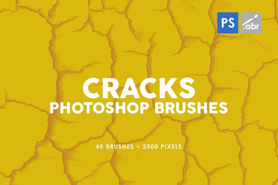 45 Cracks Photoshop Stamp Brushes