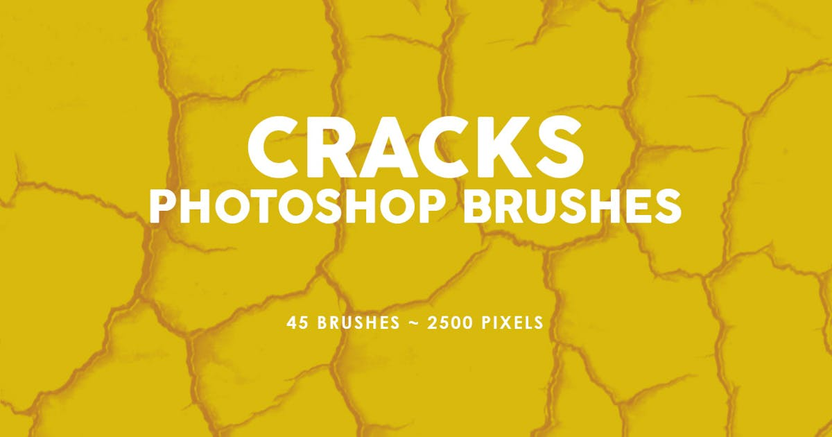 Download 45 Cracks Photoshop Stamp Brushes by M-e-f