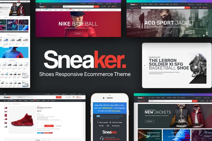 Sneaker - Shoes Responsive Magento Theme by Plaza-Themes on Envato ... cdfaf7a8ae