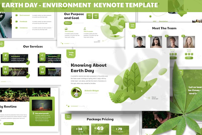 Thumbnail for Earth Day - Environment Keynote Template