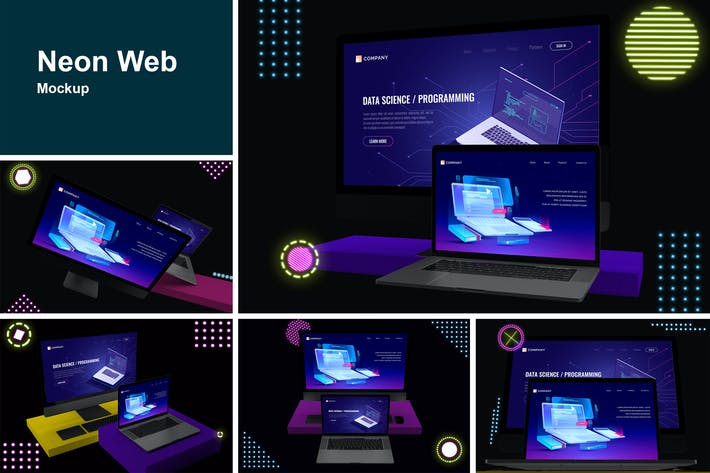 Thumbnail for Neon Web Mockup