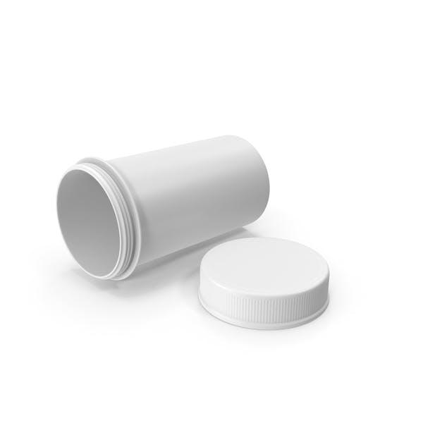 White Pill Bottle Open