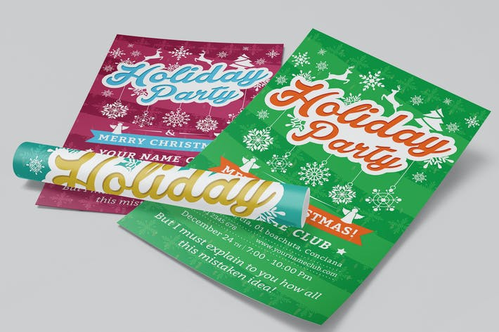 Thumbnail for Holiday Party Flyer Template 02