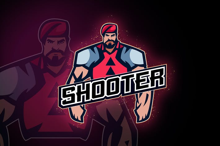 Thumbnail for Squad shooters Team No.2 - esport logo
