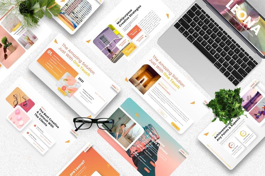 Leona - Multipurpose Creative Keynote Template