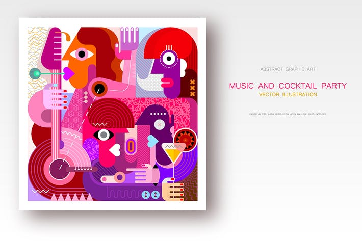 Thumbnail for Concert and Cocktail Party vector illustration